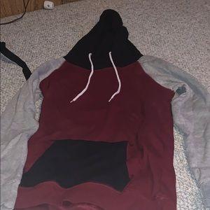 multi colored hoodie size small zumiez